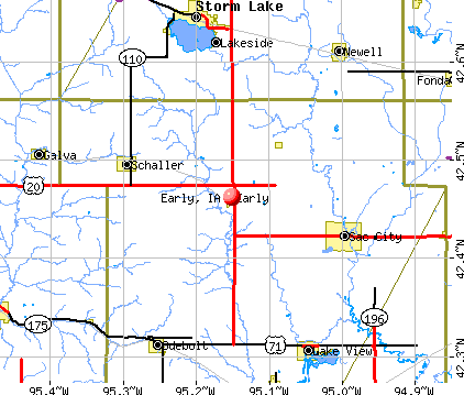 Early, IA map