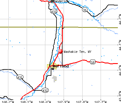 Washakie Ten, WY map