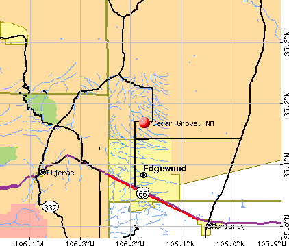 Cedar Grove, NM map
