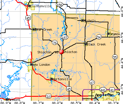 Shiocton, WI map