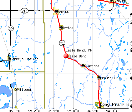Eagle Bend, MN map