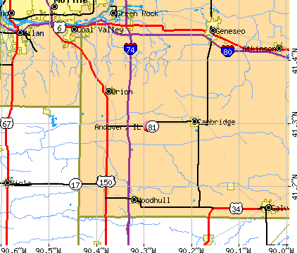 Andover, IL map
