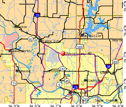 Ferrelview, MO map