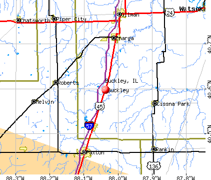 Buckley, IL map