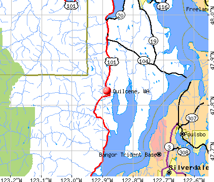Quilcene, WA map