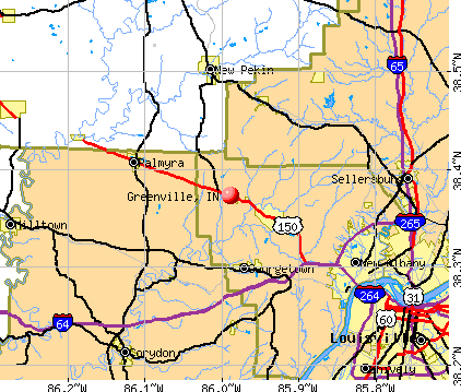 Greenville, IN map