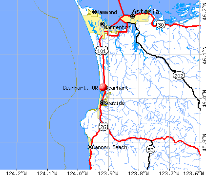 Gearhart, OR map