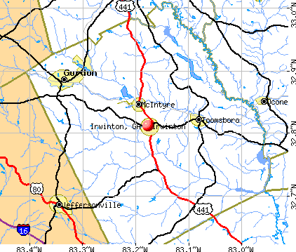 Irwinton, GA map