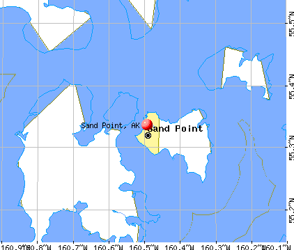 Sand Point, AK map