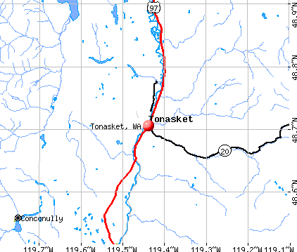 Tonasket, WA map