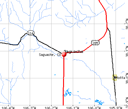 Saguache, CO map