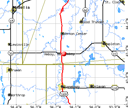 Amboy, MN map
