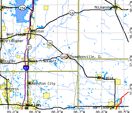 Thompsonville, IL map