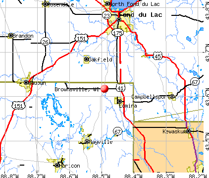 Brownsville, WI map