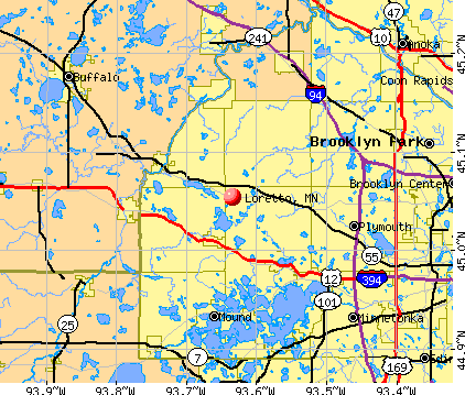 Loretto, MN map