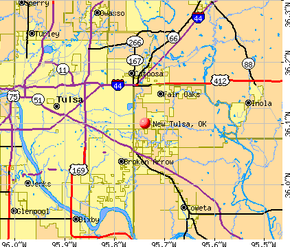 New Tulsa, OK map