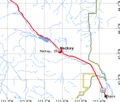 Mackay, ID map