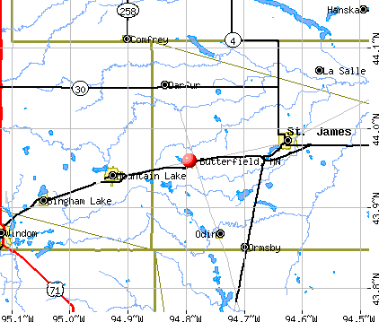 Butterfield, MN map
