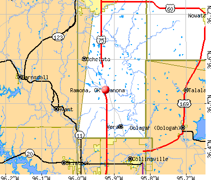 Ramona, OK map