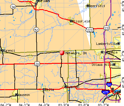Metamora, OH map