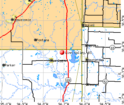 Linn Valley, KS map