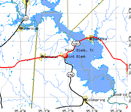 Point Blank, TX map
