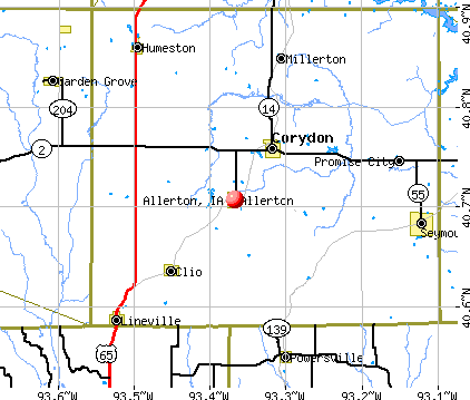 Allerton, IA map