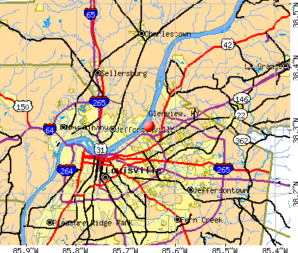 Glenview, KY map