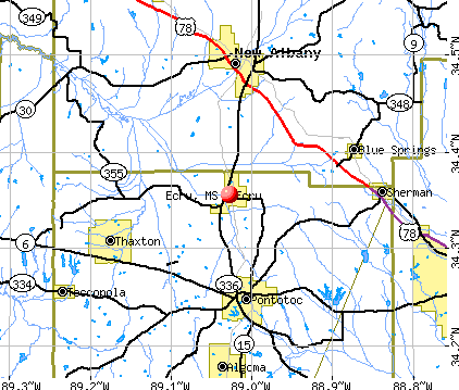 Ecru, MS map