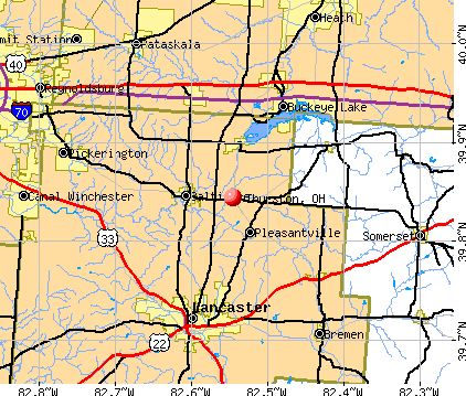 Thurston, OH map