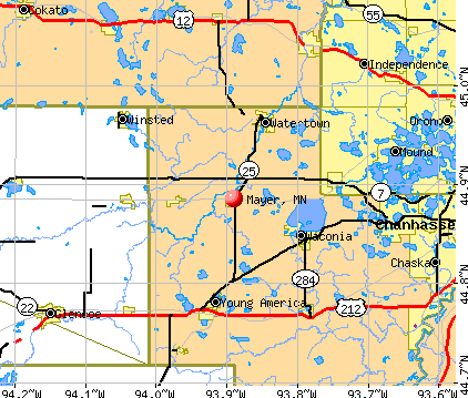 Mayer, MN map