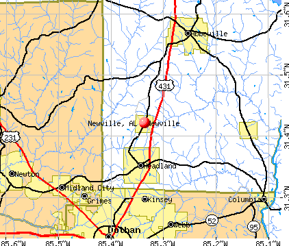 Newville, AL map