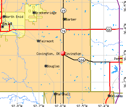 Covington, OK map