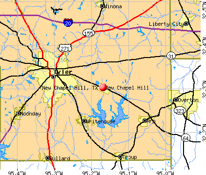 New Chapel Hill, TX map