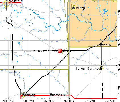 Norwich, KS map