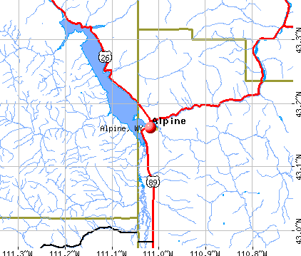 Alpine, WY map