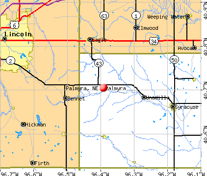 Palmyra, NE map