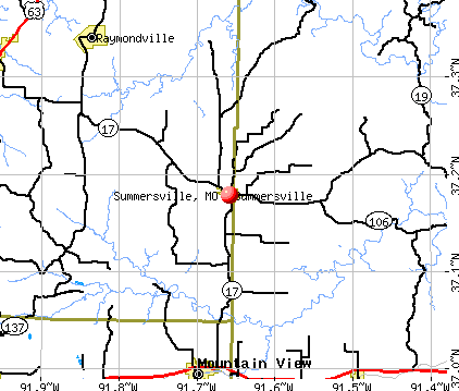 Summersville, MO map
