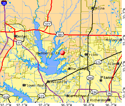 Hackberry, TX map