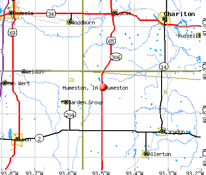 Humeston, IA map