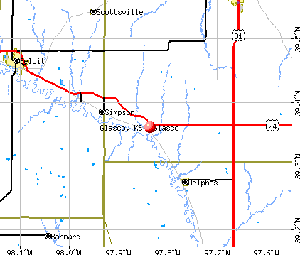 Glasco, KS map