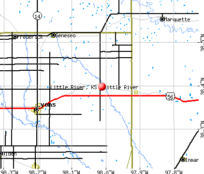 Little River, KS map