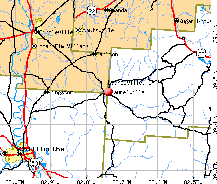 Laurelville, OH map