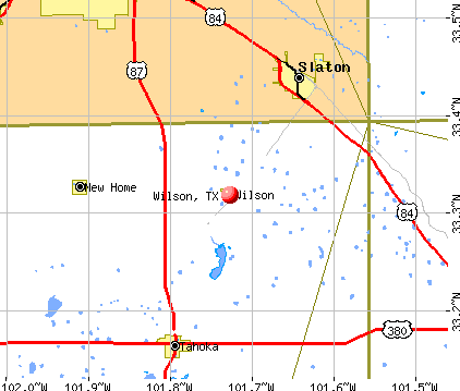 Wilson, TX map