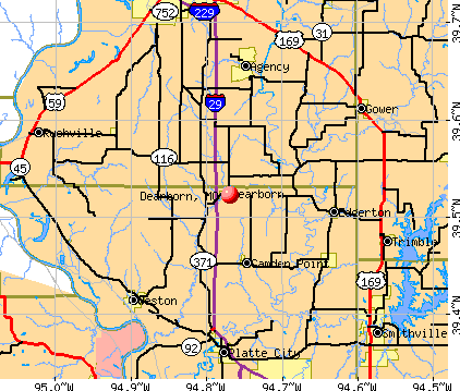 Dearborn, MO map