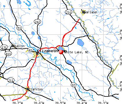 White Lake, NC map