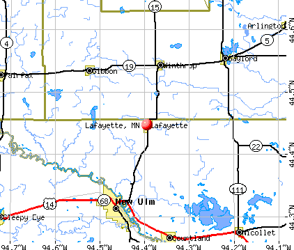 Lafayette, MN map