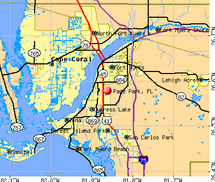 Page Park, FL map