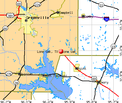 Lone Oak, TX map
