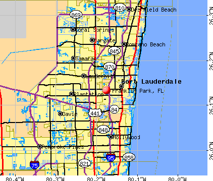 Franklin Park, FL map